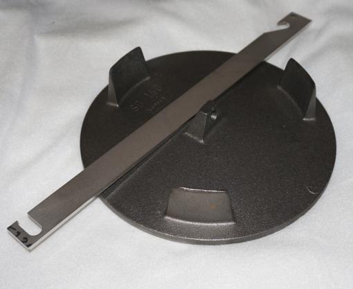 Abgas Strahlplatte mit Haken für Forsterheizung 9kW (d=250mm)